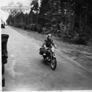 James Berrow on his TRW in Germany C1952