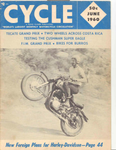 Royal Enfield Rider Jim Goldsmith On an Interceptor Cycle Magazine, June 1960