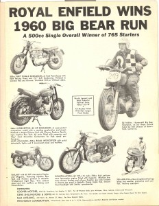 "1960 Big Bear Run From ""Cycle"" Magazine 1960"