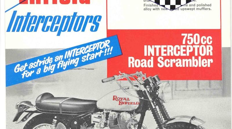 Royal Enfield Interceptor 750 Road Scambler Pamphlet